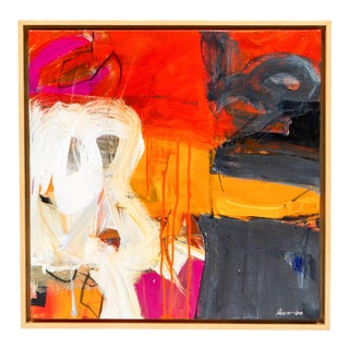 "Robin Crutcher Original ""Orange & Red"" Painting For Sale"