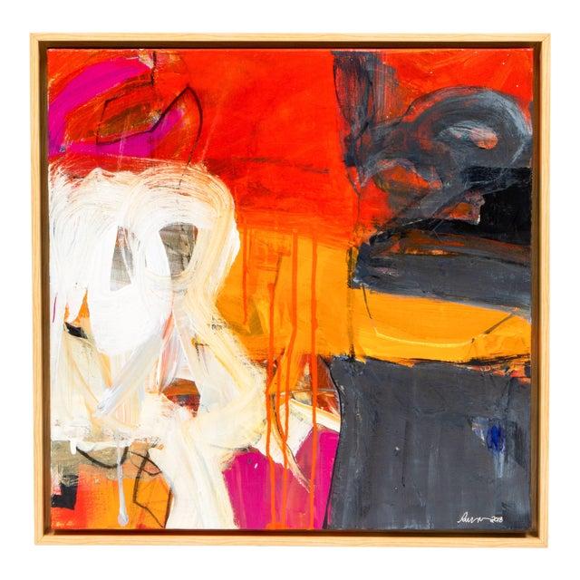 "Robin Crutcher Original ""Orange & Red"" Painting For Sale"