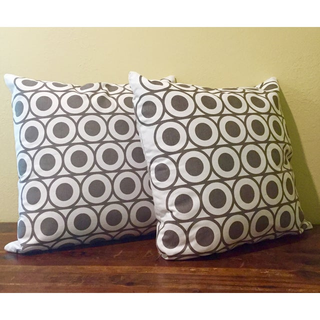 Gray & White Geometric Pillows - A Pair - Image 2 of 6