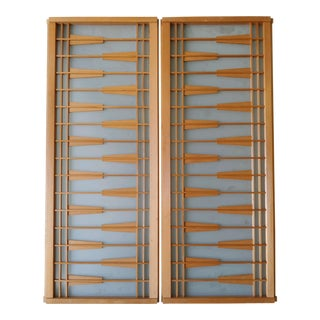 Japanese Transom Windows - a Pair For Sale
