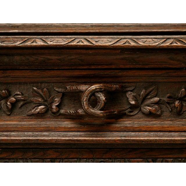 Antique French Carved Oak Hunt Cabinet For Sale - Image 4 of 10