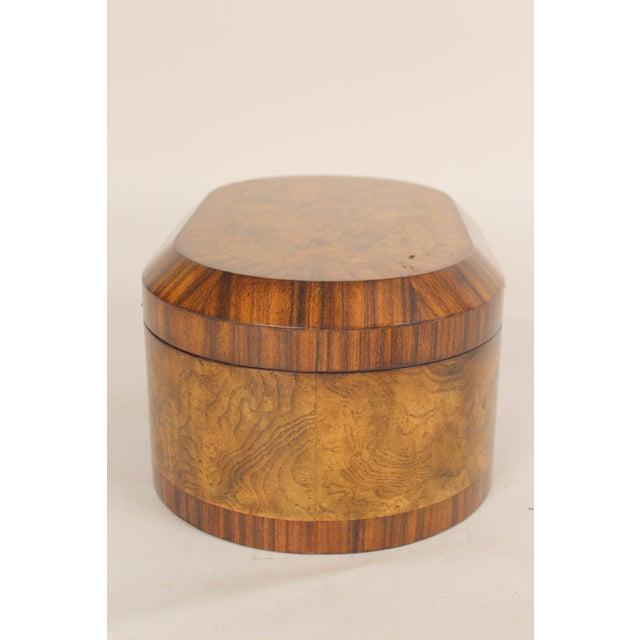 Neoclassical Maitland Smith Burl Walnut Box For Sale - Image 3 of 10