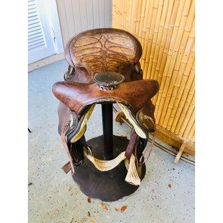 1970s Vintage Western Horse Saddle Bar Stool Preview