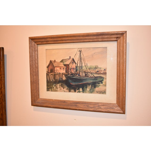 Lorena Lynch Mid-Century Sailboat Watercolor Painting For Sale - Image 4 of 6