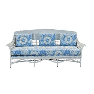 Bar Harbor Wicker Sofa For Sale