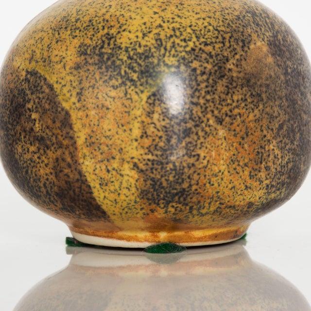 Ceramic Modern Mini Weed Pot Honey Glazed Ceramic California Studio Pottery 1960s For Sale - Image 7 of 11