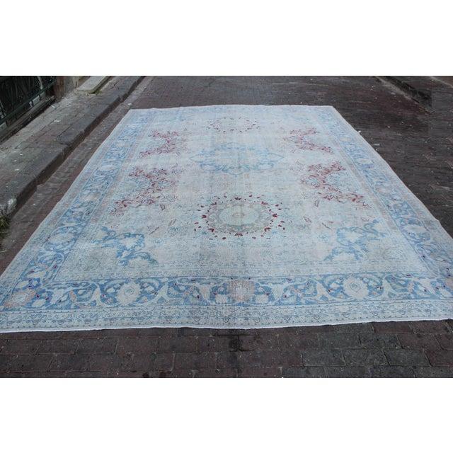 Vintage Tabriz Wool Rug - 10′ × 14′1″ For Sale - Image 4 of 10