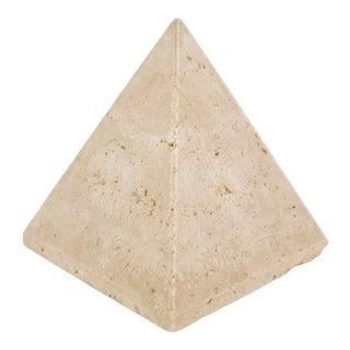 Mid Century Italian Stone Pyramid For Sale