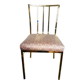 1980s Vintage Brass Side Chair - 2 Available For Sale