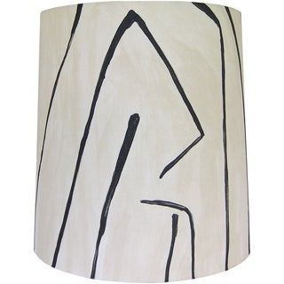 Groundworks Graffito in Linen/Onyx Drum Shade Preview