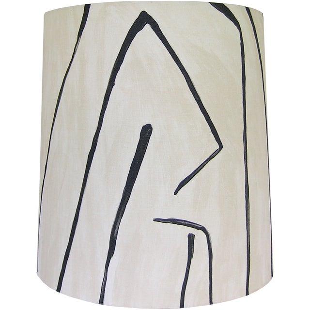 DETAILS: -Custom Lamp shade, handcrafted and covered with a graphic fabric perfect for adding a modern touch anywhere from...