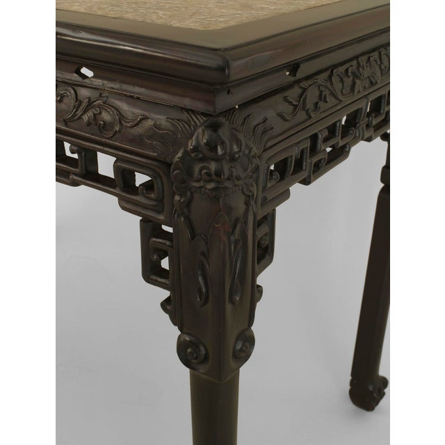 Asian Asian Chinese Style Rosewood Rectangular Center Table For Sale - Image 3 of 5