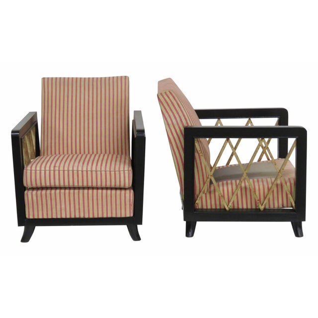 Deco Club Chairs Mann. Jean Michele Frank - A Pair - Image 1 of 6