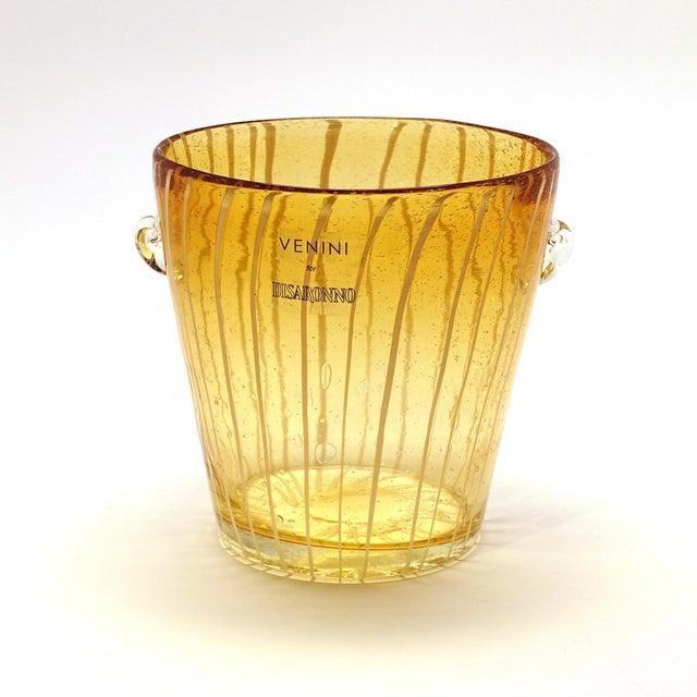Modern Venini Murano Amber Art Glass Ice Holder For Sale In New York - Image 6 of 6