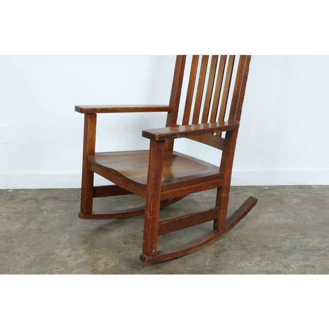 Stickley Oak Rocking Chair - Image 3 of 11
