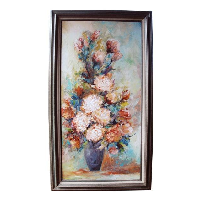 Vintage Impressionist Chrysanthemums Painting - Image 1 of 6