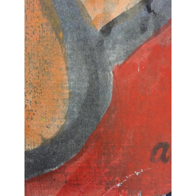 Beatnik San Francisco Artist Avrum Rubentein Figure Study Painting For Sale - Image 4 of 7