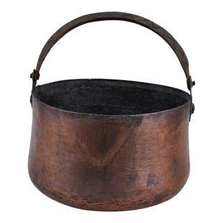 Antique Hand-Hammered Copper Pot For Sale