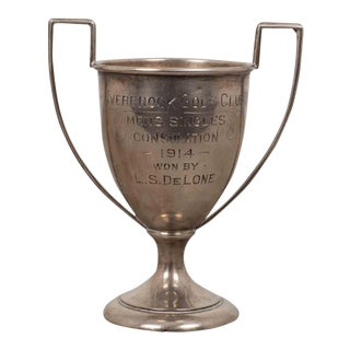 Small Sterling Sillver Golf Loving Cup Trophy 1914