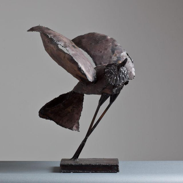 A Brutalist Abstract Bird Table Sculpture attributed to Curtis Jere Late 1960s - Image 2 of 5