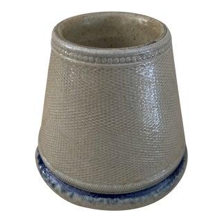 Rustic French Blue Salt Glaze Match Striker For Sale