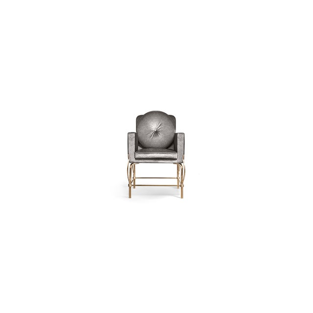Brass Hemma Chair From Covet Paris For Sale - Image 7 of 8