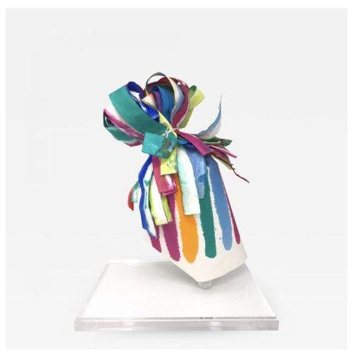 "Vintage Mid-Century Groboski ""Ribbons #24"" Paper Sculpture For Sale - Image 4 of 4"
