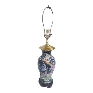 1940s Cloisonne Asian Lamp For Sale
