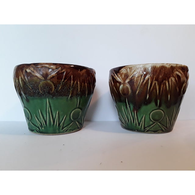 1940s Art Deco Art Pottery Planters - A Pair - Image 3 of 5