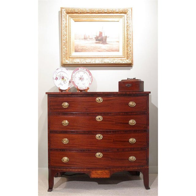 Federal Portsmouth, New Hampshire Federal Chest of Drawers For Sale - Image 3 of 11