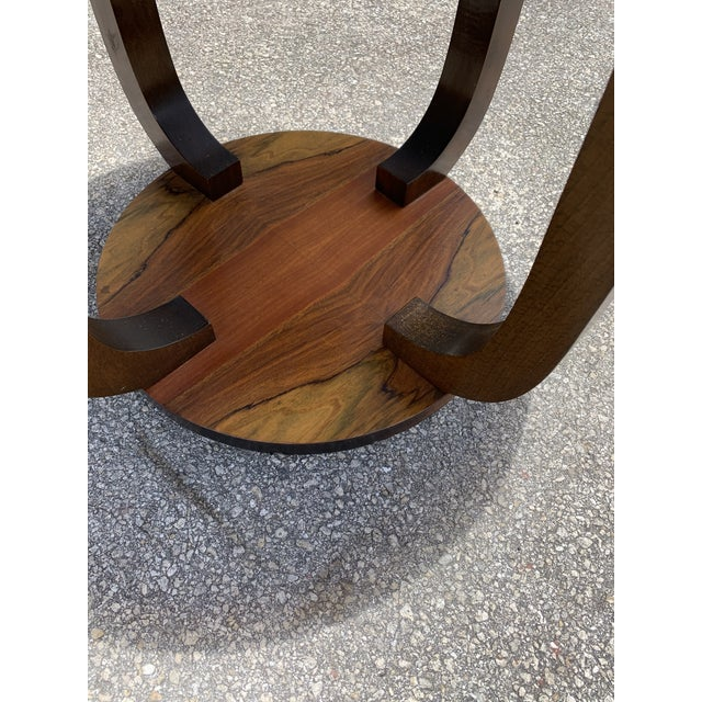 1940s 1940s Vintage French Art Deco ''Tulip'' Macassar Coffee Table or Side Table For Sale - Image 5 of 13