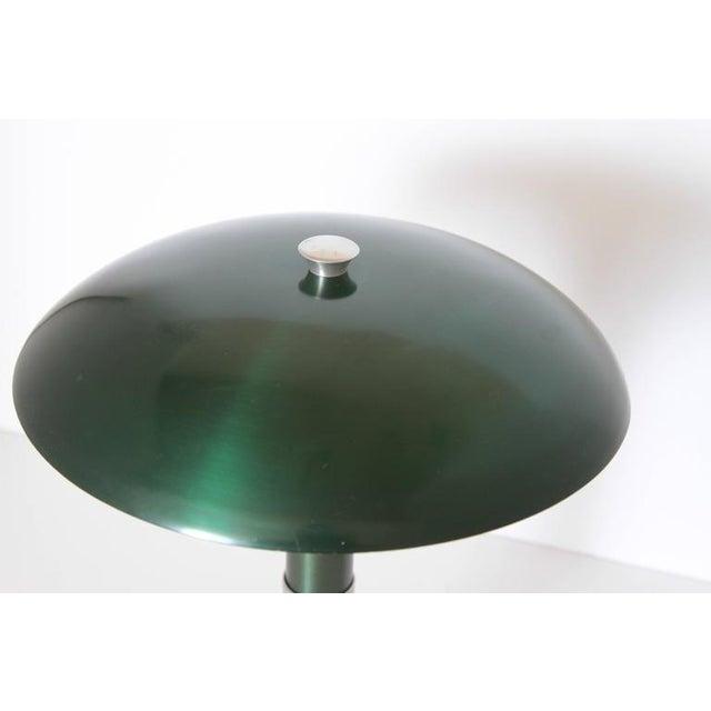 "Art Deco Machine Age Art Deco Anodized Aluminium ""Mooncrest"" Sight Light Smith Metal Arts For Sale - Image 3 of 11"