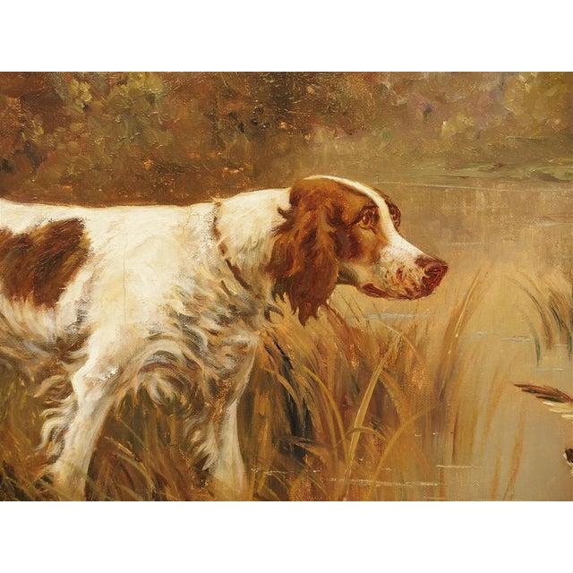 Antique Hunting Dog Painting by Maurice Etienne Dantan For Sale In Dallas - Image 6 of 11