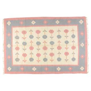 Leon Banilivi Dhurry Carpet - 6' X 9' For Sale