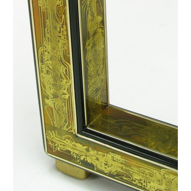 Mastercraft Bernhard Rohne Acid-Etched Brass Table For Sale - Image 9 of 9
