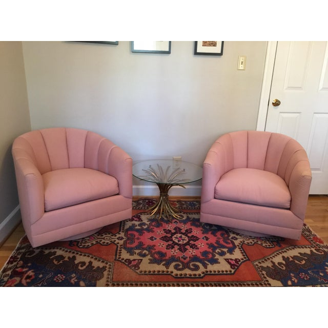 Hollywood Regency Channel Swivel Chairs - A Pair - Image 9 of 11