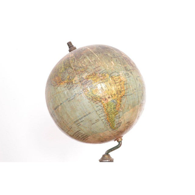 Antique pocket globe edited by Dr. A. Krause Leipsig.
