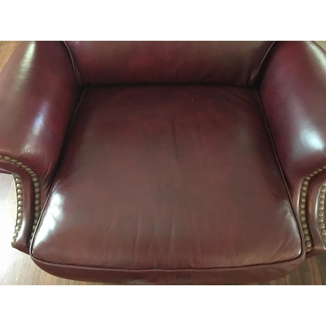 Hancock & Moore Addison Bustle Back Ball & Claw Recliner in Red Leather - Image 6 of 11