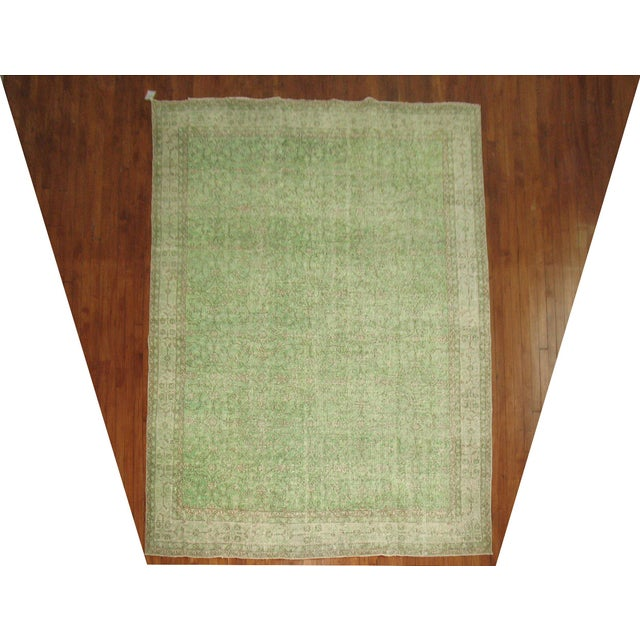 Turkish Green Over-Dyed Rug - 7'1'' X 10'5'' - Image 2 of 5
