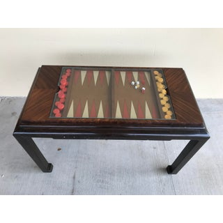 1970s Mid Century Modern Ming Leg Backgammon Console Table Bakelite Preview