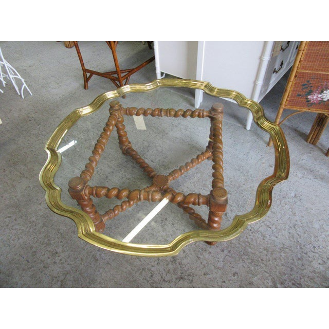 Baker Pie Crust Tray Top Coffee Table - Image 7 of 11