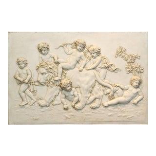 Large Classical Parian Ware Plaque