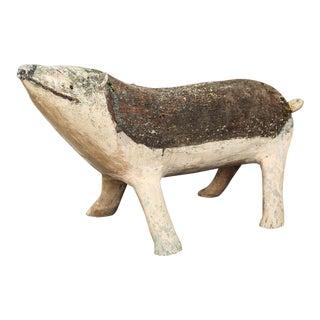 Vintage Cochon Concrete Sculpture