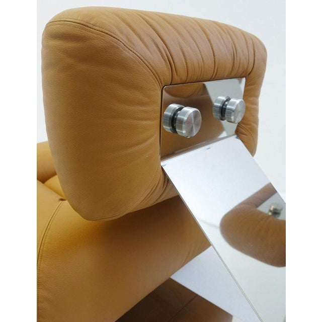 """Brown Pair of """"Aran"""" Lounge Chairs by Oscar Niemeyer, Circa 1975 For Sale - Image 8 of 9"""