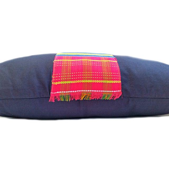 Vintage African Kente Cloth Lumbar Pillow Cover - Image 2 of 4