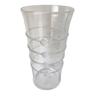 """Juliska Hand-Blown Glass 10""""Vase-Signed For Sale"""