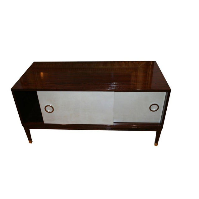 Modern Ryan Parchment Door Rosewood Console For Sale - Image 3 of 10