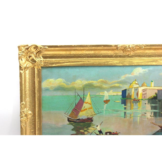 1930s Beach Mediterranean Fine Oil Painting - Image 4 of 9