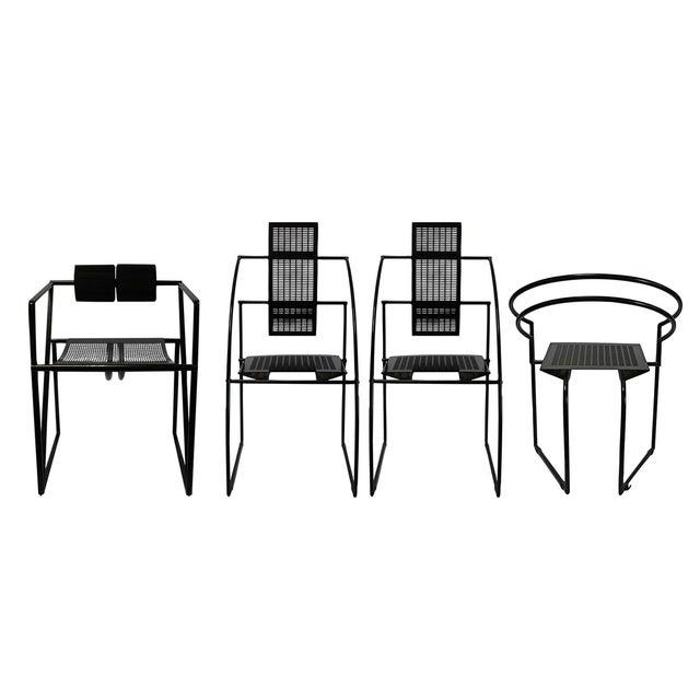 Mario Botta Memphis Postmodern Chairs 80s - S/4 - Image 1 of 4