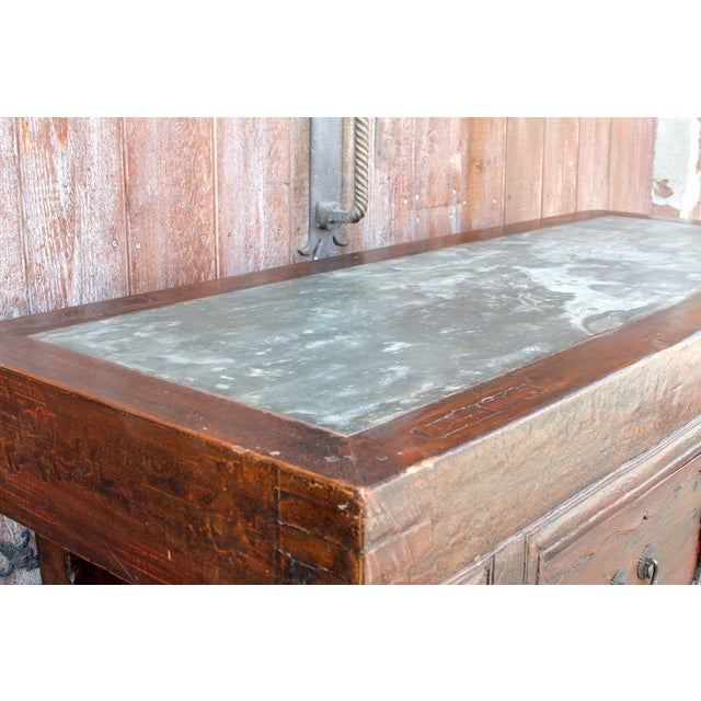 Chinese Scrolled Antique Console For Sale - Image 4 of 10